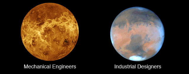 Mechanical Engineers are from Mars and Industrial Designers are from Venus!